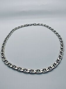 Men's HEAVY Sterling Silver Mariner Link Neck Chain 22""