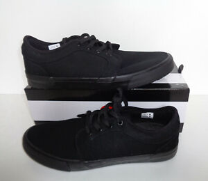 AIRWALK Mens Black Skate Lace Up Canvas Casual Trainers Shoes New UK Sizes 8-13