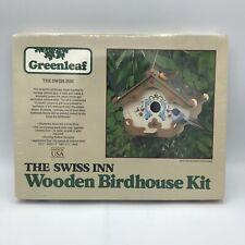 Vintage 1980 Greenleaf The Swiss Inn Wooden Birdhouse Kit New Sealed Crafting