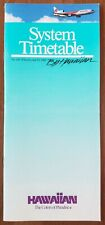 HAWAIIAN AIRLINES - SYSTEM TIMETABLE - 2 APRIL 1989