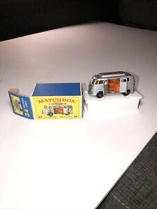 Original 1960's Matchbox Lesney #34 Volkswagen Camper NM-Mint in Box