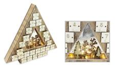 Christmas Wooden Tree shaped Advent Calendar - 24 Drawers