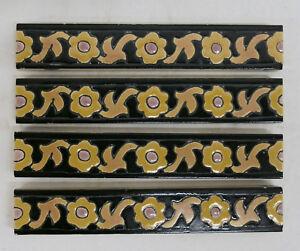 Gladding McBean Chunky Tile Liner/Trim/Border Set=4