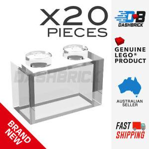 20 x Genuine LEGO® - Bricks 1 x 2, Trans-Clear - Part 3065 - Brand New