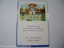 Angler-Geburtstagskarte mit Umschlag  Modell 5 neu Geschenkkarten Angelgeräte