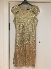 Gold Sequinned Cutie Dress Size 10