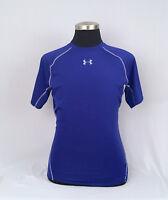 UNDER ARMOUR Men's HeatGear Compression Short Sleeve Shirt-Royal Blue Sz.XL - A+
