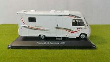 Camping car Pilote G740 Aventure 2011 1/43 Ixo Hachette n° 40 Passion CC