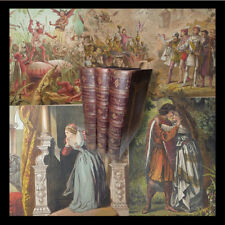 Opere di SHAKESPEARE The Library - 3 volumi in Folio illustrati '800 Tavole col.