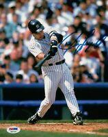 Jim Leyritz Signed 8X10 Photo Autograph Auto Home Swinging Yankees PSA/DNA