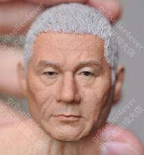 "1/6 scale Head Sculpt white Kitano Takeshi Beat Takeshi きたの たけし samurai fit 12"""