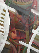 1985 Abstract oil painting signed