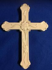 Lenox Ivory Easter Lily Cross wall hung 9""
