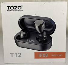 Tozo T12 Ipx8 Waterproof Wireless Earbuds New Box A Bit Damaged.