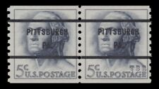 1229 Washington 5c PITTSBURGH PA Scarce Bureau Precancel Pair 1962 MNH - Buy Now
