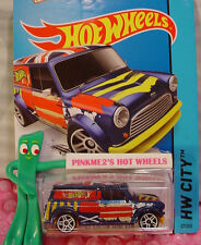 2016 Case A 2015 i Hot Wheels '67 AUSTIN MINI VAN #27�œ�Blue/Yellow;Union Jack�œ�Art