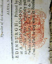1779 British newspaper Edinburgh SCOTLAND w RED TAX STAMP from REVOLUTIONARY WAR