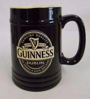 Guinness Ceramic Tankard in black and cream