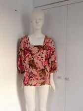 Womens flower top blouse square neck line MONSOON
