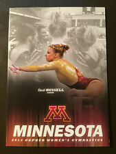 Minnesota Gophers 2013 Ncaa Women's Gymnastics pocket schedule