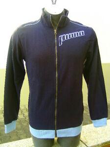 PUMA Sweater Jacket Training Large Logo Sports Boys' Blue New 804206003