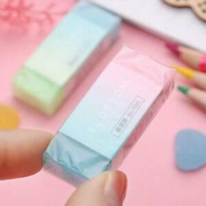1* Colorful Jelly Rubber Eraser Pencil Eraser for Kids School Stationary Tool