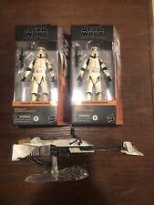 Star Wars Black Series Mandalorian Remnant Stormtrooper Lot & Speeder Bike