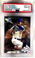 Dodgers CODY BELLINGER 2017 Bowman Chrome Rookie Baseball Card GEM MINT 10 PSA