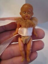 Vintage Plastic Baby - Eyes Close When Laid Down - Made In Italy - Tub Sc7