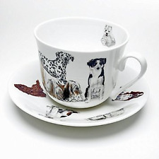 Roy Kirkham - Breakfast Cup and Saucer - Dogs Galore