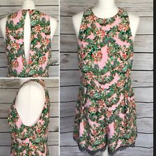 0899ea3c9e Topshop Pink Multi Floral Print Romper Playsuit Size 14 UK Brand New With  Tags
