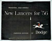"""ORIGINAL 1956 DODGE LANCER SALES BROCHURE ~ 8 PAGES ~ 11"""" X 13"""" ~ 56DL"""