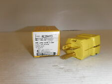 HUBBELL HBL5364VYCN PLUG 20A 125V NEMA 5-20P NIB