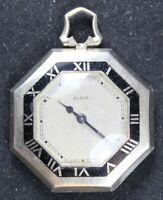 1931 Elgin Grade 487 4/0s 17j Pocket Watch w/ OCTAGON OF GF Case - Parts/Repair