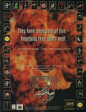 1997 Nintendo N64 CLAYFIGHTER 64 1/2  teaser video game magazine print ad page
