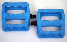 ODYSSEY BMX PC OCEAN BLUE TWISTED PLASTIC  PEDALS - BMX BIKE - FREE POST -