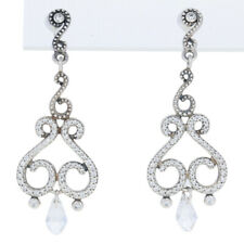NEW Authentic Pandora Swirling Chandeliers Drop Earrings Silver Clear 297088CZ