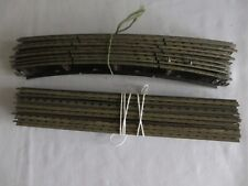 HORNBY DUBLO 3 RAIL 8 x STANDARD CURVES INC. TERMINAL + EIGHT STRAIGHTS OO GAUGE
