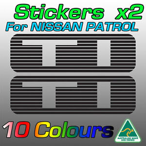 Nissan Patrol TI stickers decals for GU model  *Premium quality* by AustImages