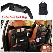 Multi-Pockets Car Seat Back Organizer Storage Bag Cup iPad Phone Holder Leather