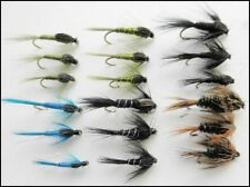 Nymph Trout Flies, 18 Pack, Damsels, Silver Ribbed & More, Mixed Size 10 to 14