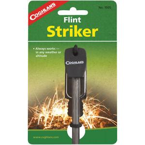 Coghlan's Flint Striker Ferro Cerrium Fire Starter Rod w/ Steel Camping Survival