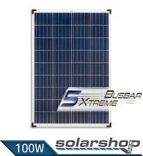 100 Watt 12V Solarmodul Polykristallin - Multi Busbar Cells Technology - Spectra