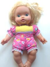 1995 Baby Go Bye Bye Doll Kenner Blonde Hair Pink Bow Soft Body 12 inch