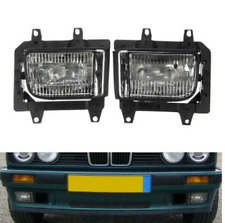 Pair GLASS foglamps foglights fogs Fog CLEAR BMW E30 facelift 1988- E marked UK