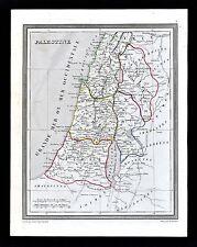 1835 Monin Fremin Atlas Map - Ancient Palestine Judea Jerusalem Old Testament