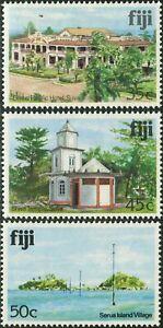 Fiji 1979 SG591A-593A Architecture MNH