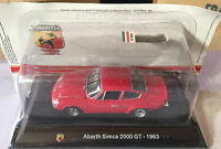 "DIE CAST "" ABARTH SIMCA 2000 GT - 1963 "" + TECA RIGIDA BOX 2 SCALA 1/43"