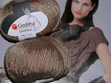 600 g Samina GEDIFRA NATUR Beige Sand + edel Glanz Luxus WOLLE smc select 4304