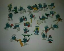 1970s 80s Vintage Schleich SMURF Miniature Figures Lot of 25 Hong Kong